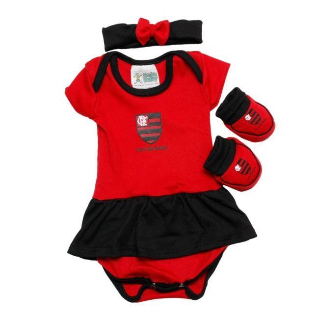 Kit 3 Peças Menina Flamengo 033 B