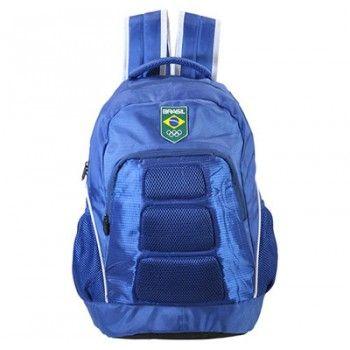 Mochila Time Brasil Azul Ref 6070