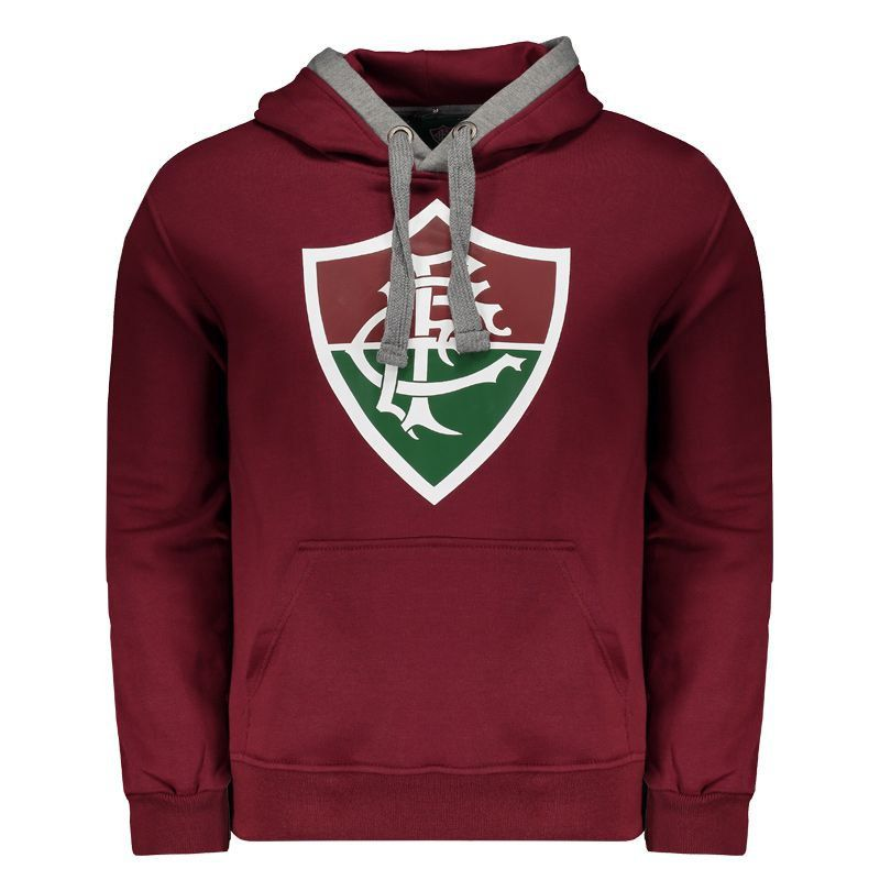 Casaco Fluminense Grená com capuz e bolso canguru