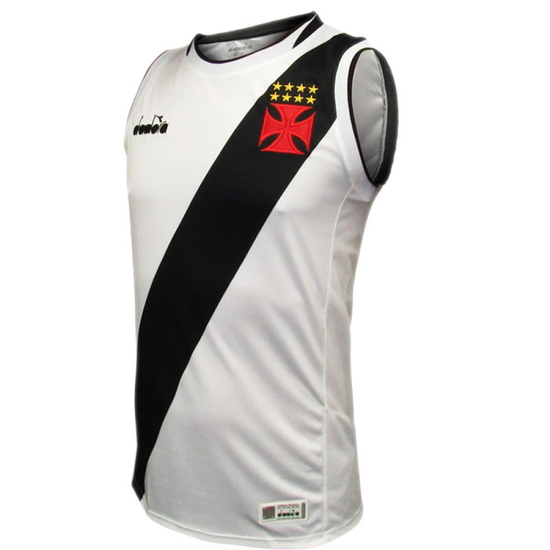 REGATA VASCO HOME BASQUETE DIADORA 2018 BRANCA