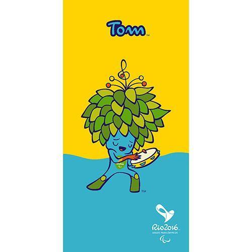 Toalha de Banho Mascote Tom Olimpíadas Rio 2016 - Amarela