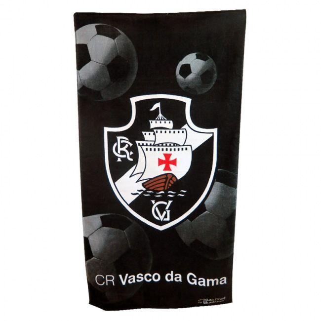 Toalha Vasco Banho Veludo Estampada 207314