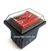 Interruptor c/capa Vermelho c/luz - Aspirador e Extratora