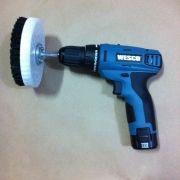 Kit escova para esfregar estofados + Furadeira a bateria - KITWS2500