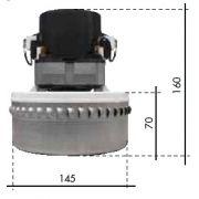 Motor de aspirador Agua e pó BPS2S Dupla Turbina 1400W - Profissional - Lavor PRO