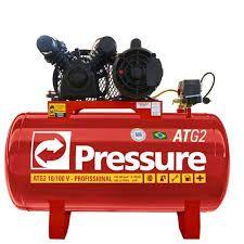Compressor De Ar Monofásico 10 Pés 100 Litros 110/220v Atg2 Pressure