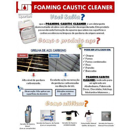 Detergente desengordurante alcalino - FOAMING CAUSTIC CLEANER - Spartan 5 LITROS