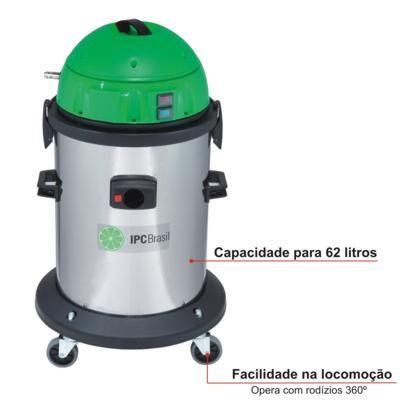 Extratora e aspirador 2 em1 Carpetes e estofados A162 Ext 62 L - 1400W - Profissional - IPC Soteco