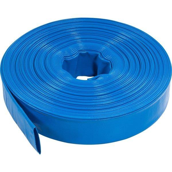 Kit 50 Metros De Mangueira Azul Flat Flexível 2 Polegadas