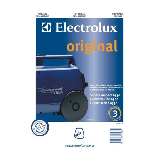 Kit saco descartavel A330 Original - Electrolux