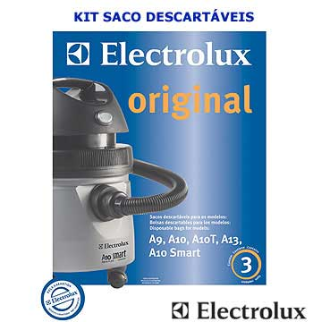 Kit saco descartavel A9, A10, A10T, A13, A10 Smart - Electrolux