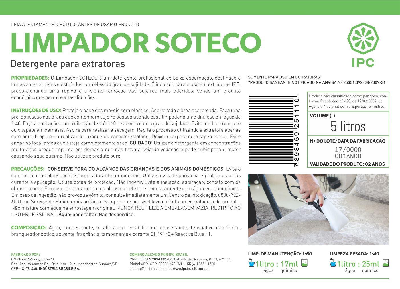 Limpador SOTECO de Carpete por Extração - IPC SOTECO