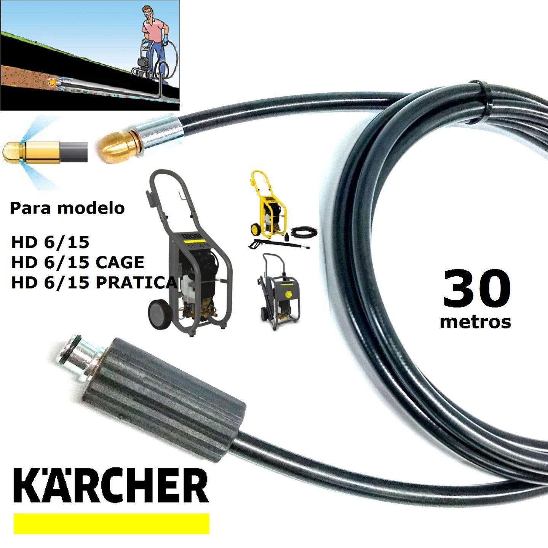 Mangueira Desentupidora De Tubulação 30 METROS HD 6/15 - Karcher