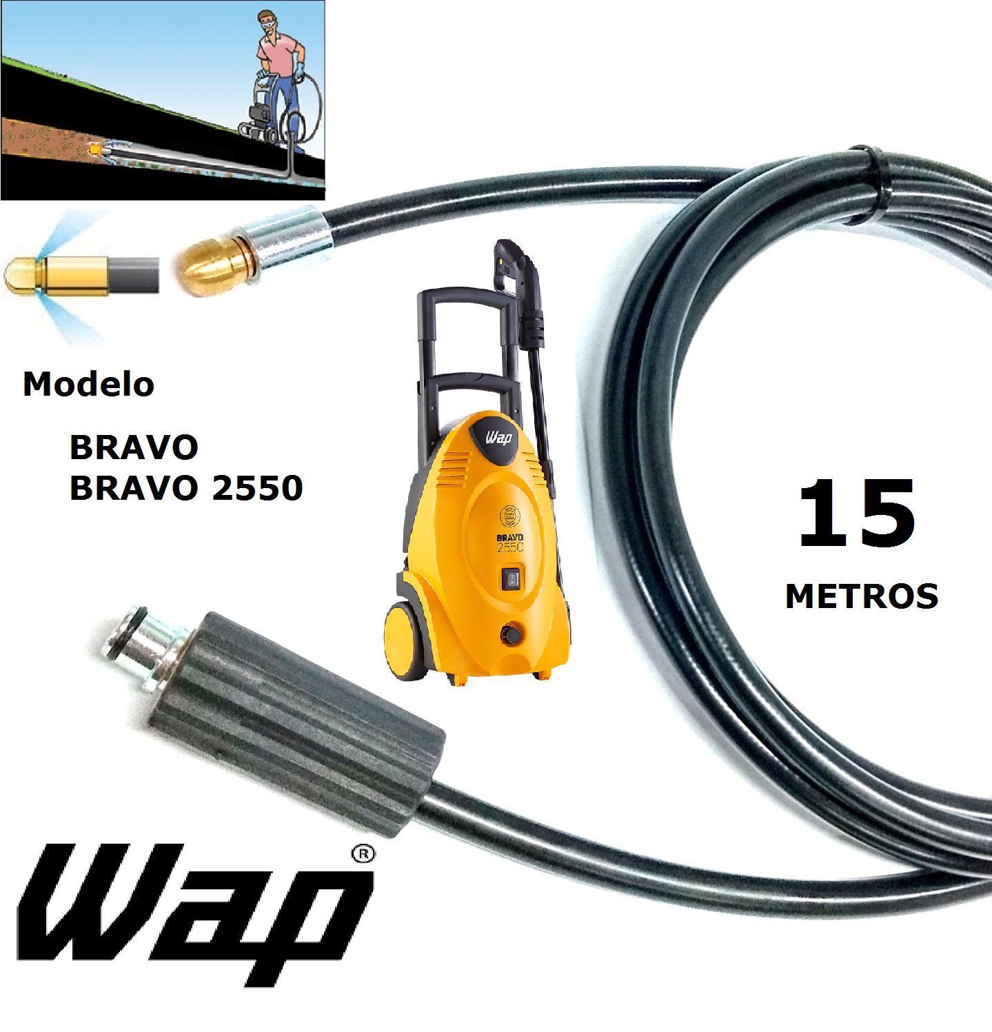 Mangueira desentupidora de tubulação WAP - 15 Metros - Wap BRAVO 2550