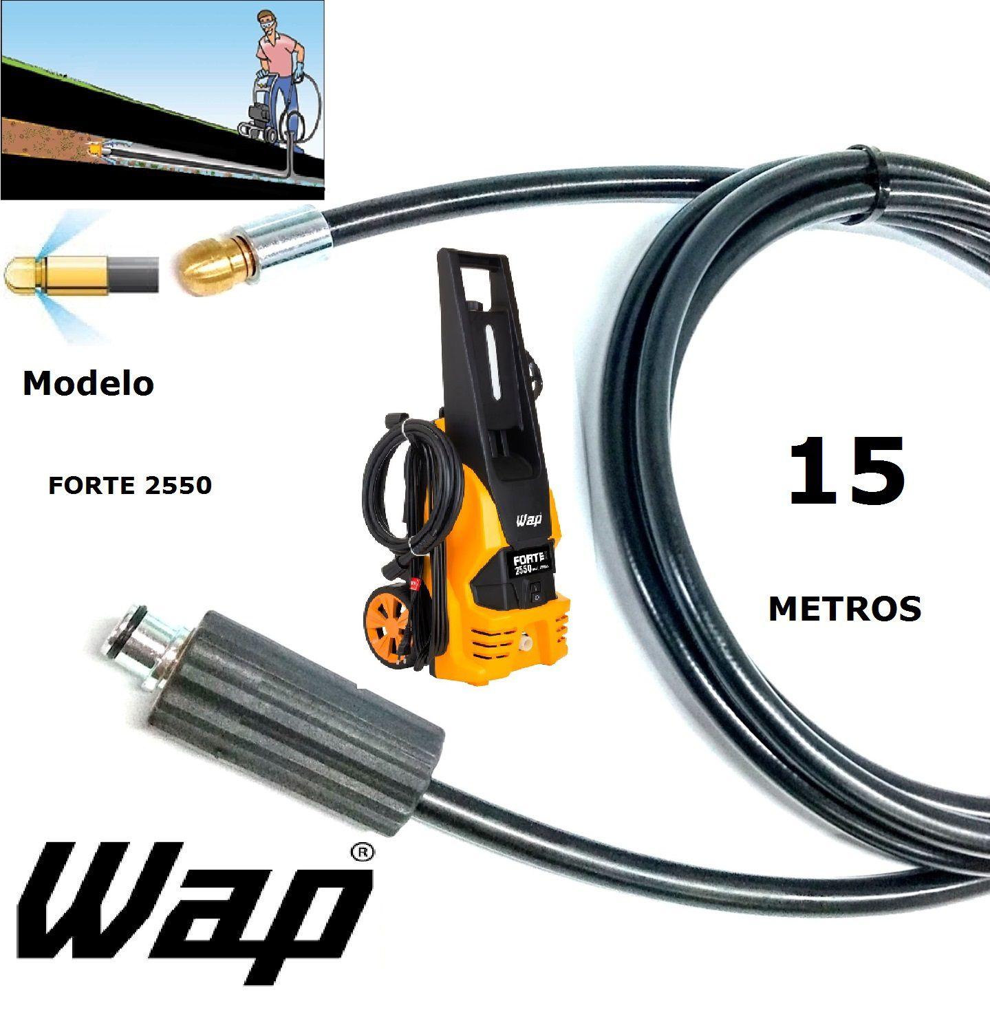 Mangueira desentupidora de tubulação WAP - 15 Metros - Wap FORTE 2550