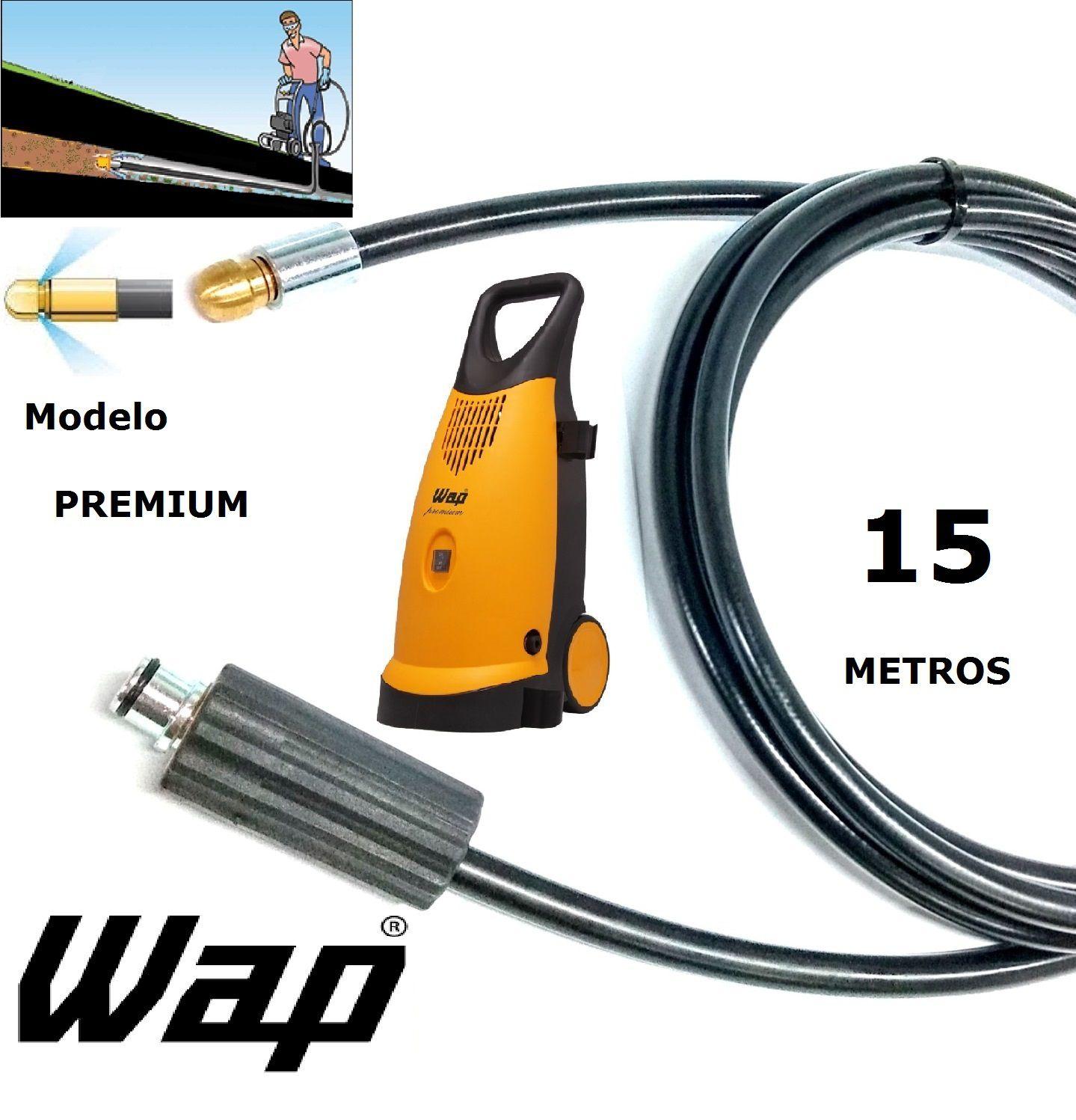 Mangueira desentupidora de tubulação WAP - 15 Metros - Wap PREMIUM
