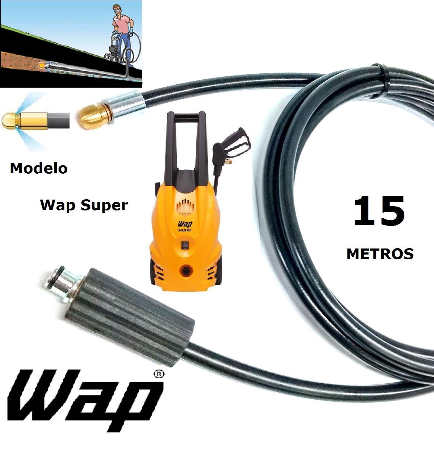 Mangueira desentupidora de tubulação WAP - 15 Metros - Wap SUPER