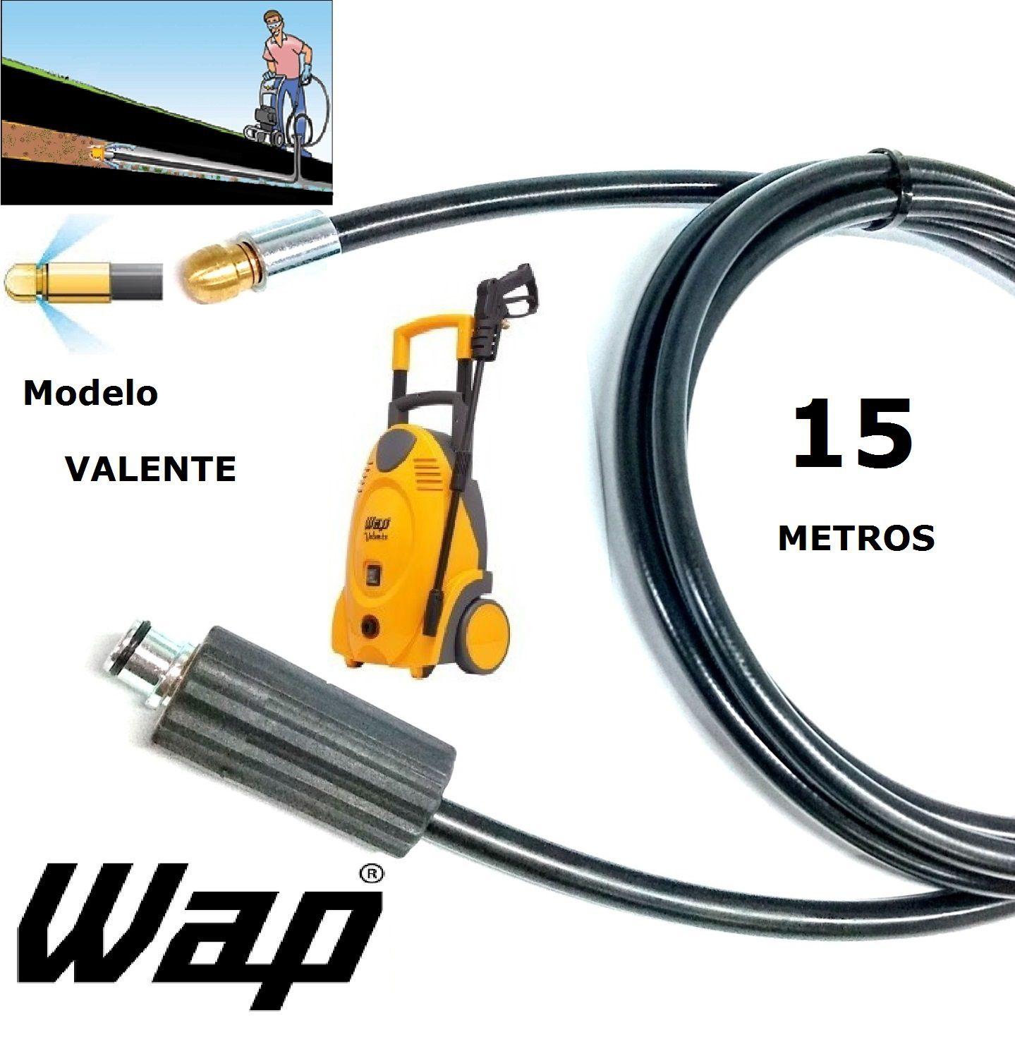 Mangueira desentupidora de tubulação WAP - 15 Metros - Wap VALENTE