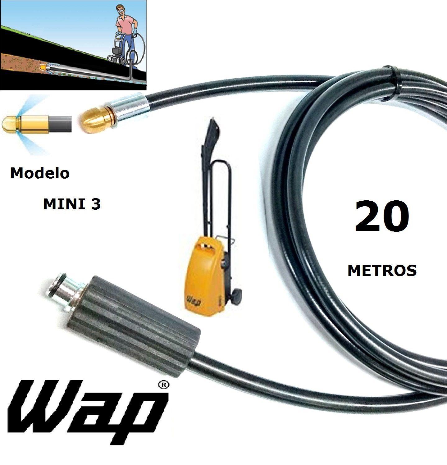 Mangueira desentupidora de tubulação WAP - 20 Metros - Wap MINI 3