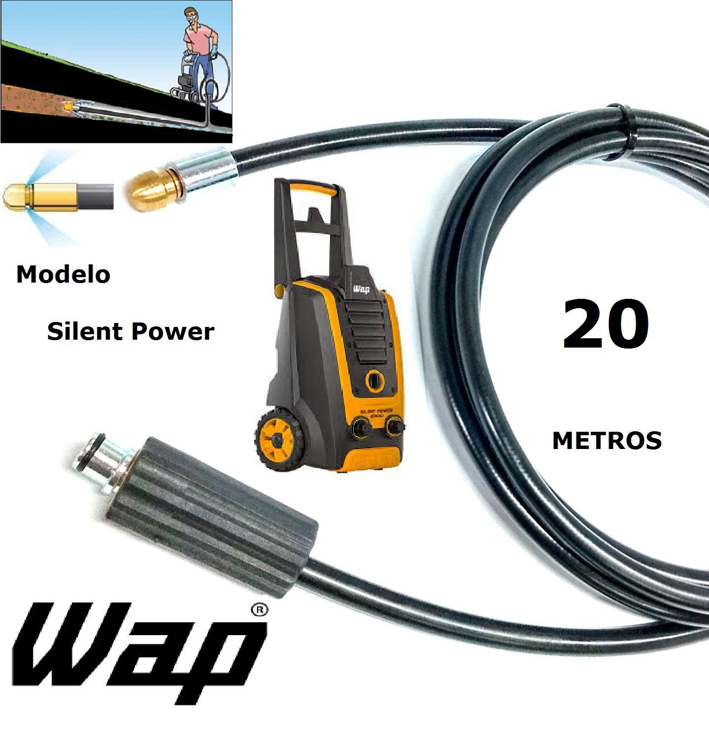 Mangueira desentupidora de tubulação WAP - 20 Metros - Wap SILENT POWER