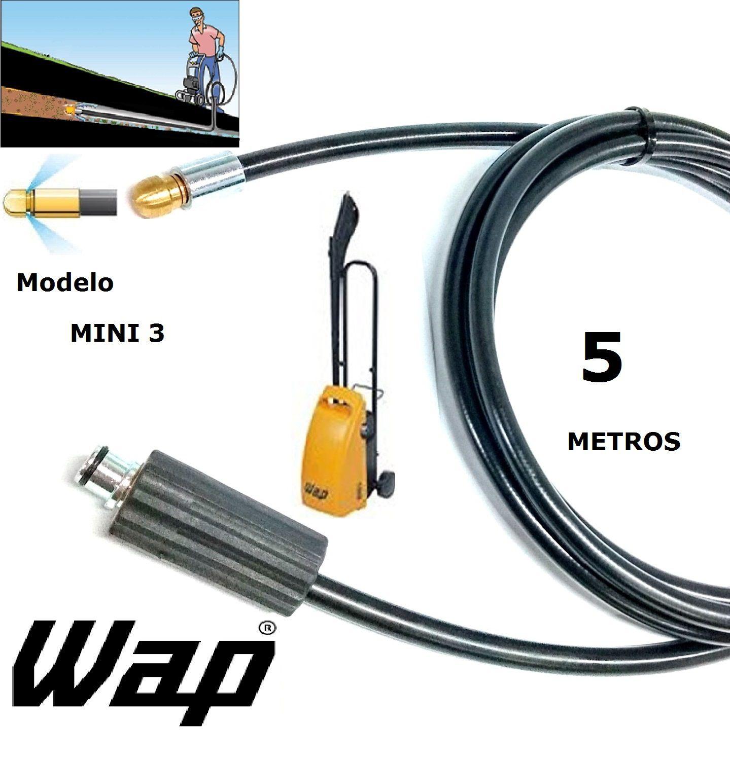Mangueira desentupidora de tubulação WAP - 5 Metros - Wap MINI 3