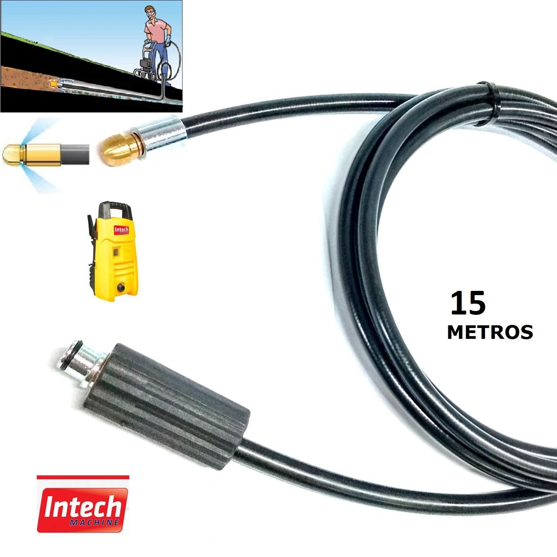 Mangueira Desentupidora Esgoto 15 Metros TEXAS Intech Machine