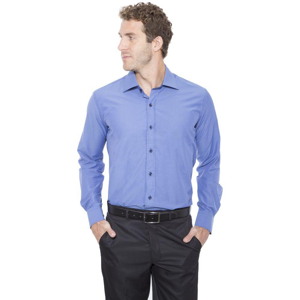 Camisa passa fácil lisa detalhe - Hugo Deleon 578281e96e4