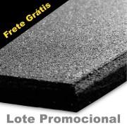 Lote Promocional 50m²  - Piso De Borracha Fitness 0,50 x 0,50m 16mm Preto Ultra Impact