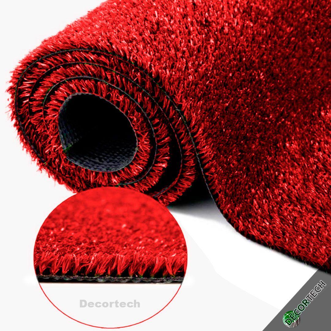 Grama Sintética SoftGrass 12mm - Vermelha - Colors