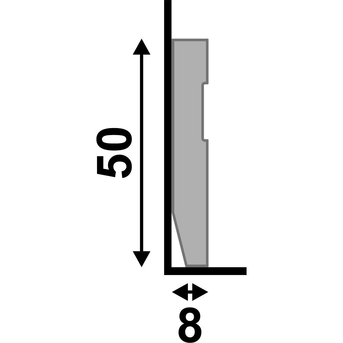 Rodapé Branco Premium 5 Cm Frisado De Poliestireno