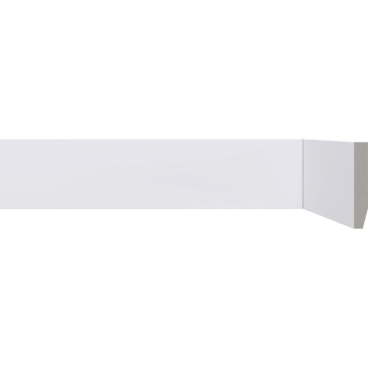 Rodapé Branco Premium 7 Cm Liso De Poliestireno