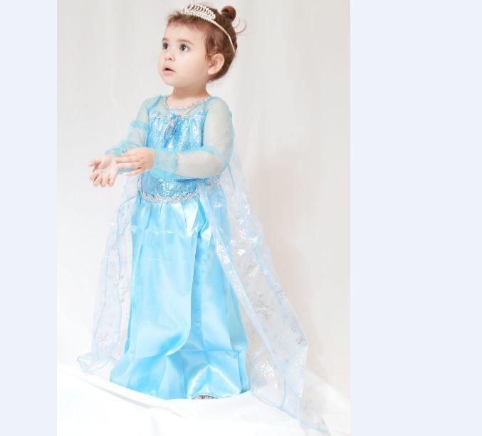 f40ba5d4a Vestido de Festa Aniversario Frozen Elsa Anna Azul - vestido de ...