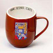 Caneca Gigante 480 ml (16 oz.) Marrom Brilhante com Logo King