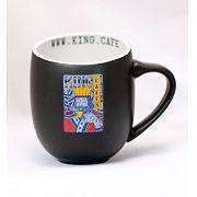 Caneca Gigante 480 ml (16 oz.) Preta Fosca com Logo King