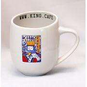 Caneca Grande 360 ml (12 oz.) Branca Brilhante com Logo King