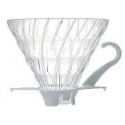 Suporte de vidro para café Hario V60 (Tamanho 2, Branco) - VDG-02W