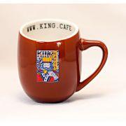 Xícara Espresso 90 ml (3 oz.) Marrom Brilhante com Logo King