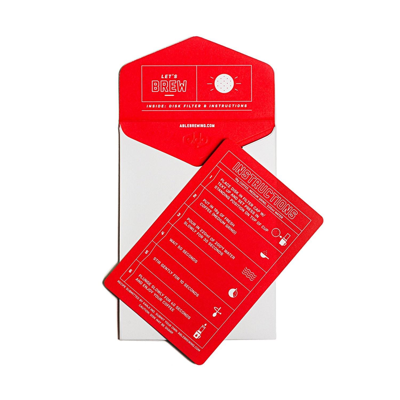 Filtro em Aço Inoxidável para Cafeteira Aeropress Disk Standard by Able Brewing