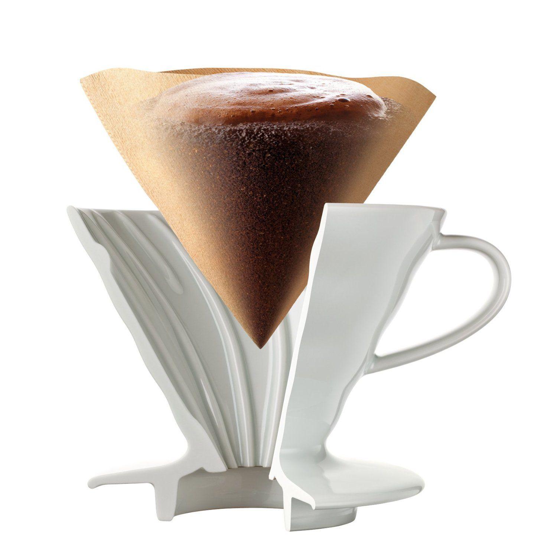 Suporte cerâmico para café Hario V60 Tam 2 Méd Vermelho - VDC-02R