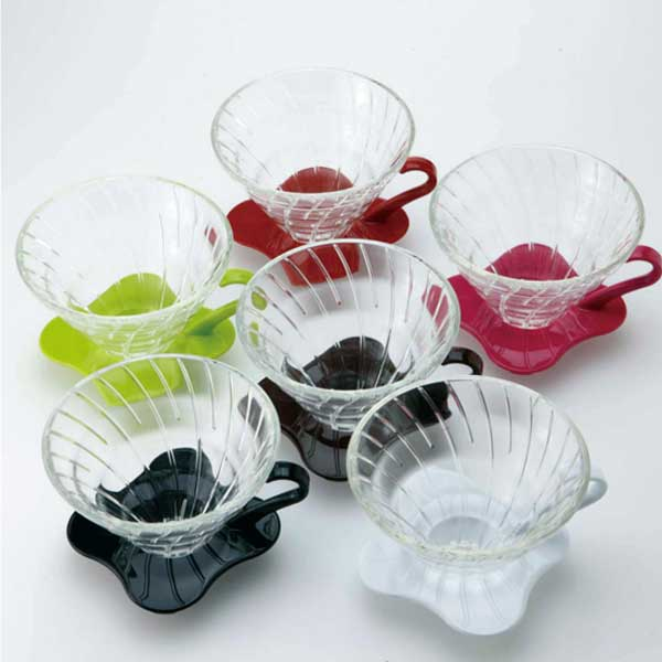 Suporte de vidro para café Hario V60 (Tamanho 1, Marrom) - VDG-01CBR