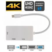 Adaptador Mini Displayport HDMI VGA DVI HDMI 4K 30Hz