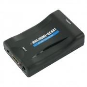 Conversor Hdmi Para Scart 1080p Adaptador De Audio Video