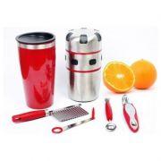 Espremedor de frutas Inox Extrator Manual Sucos Frutas