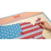 Mapa Raspadinha Estados Unidos USA EUA America 84x59cm