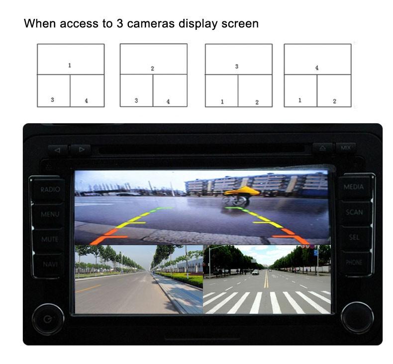 Chaveador Divisor De Tela Para Carro Até 4 Cameras Rca