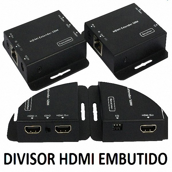 Extensor De Controle Remoto Hdmi Fullhd Cabo Rj45 C Splitter