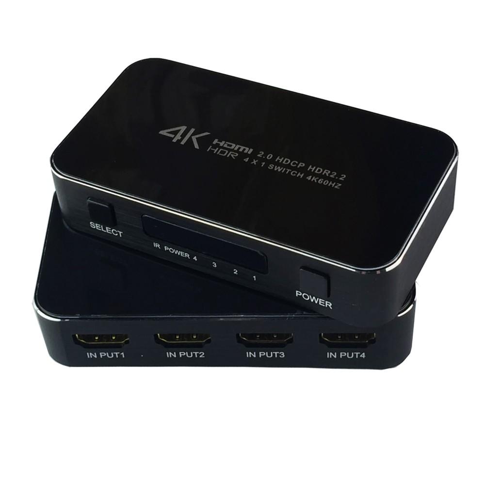 Switcher Hdmi 2.0  4x1 4K x 2K 60 Hz Chaveador Seletor HDMI
