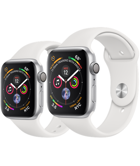 ac76b440aa5 Apple Watch Silver Aluminum Case with White Sport Band 44mm - Infotecdez
