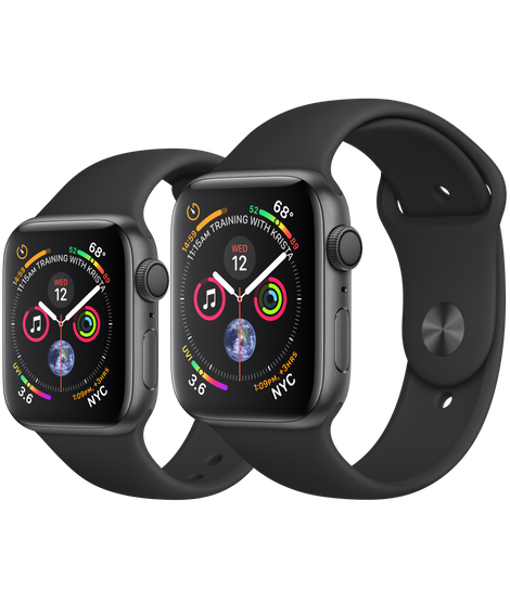50725aa1f9c Apple Watch Space Gray Aluminum Case with Black Sport Band 40mm ...