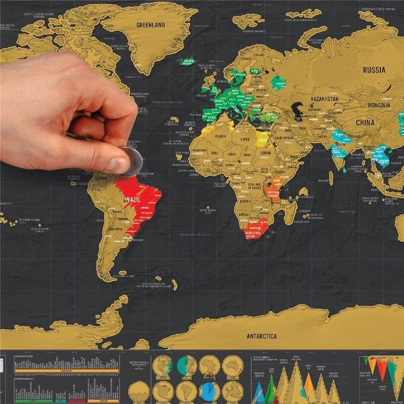 Mega Poster Mapa Mundi Azul 140x90cm Com 220 Pins Adesivos Para